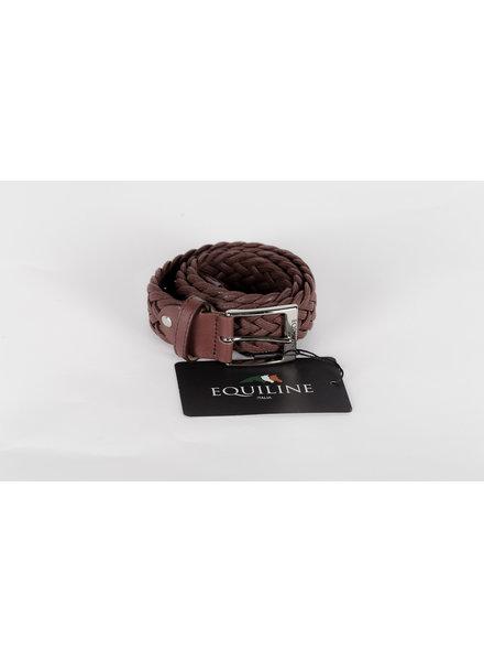 Equiline Unisex Elastic Belt Camellia Burgundy