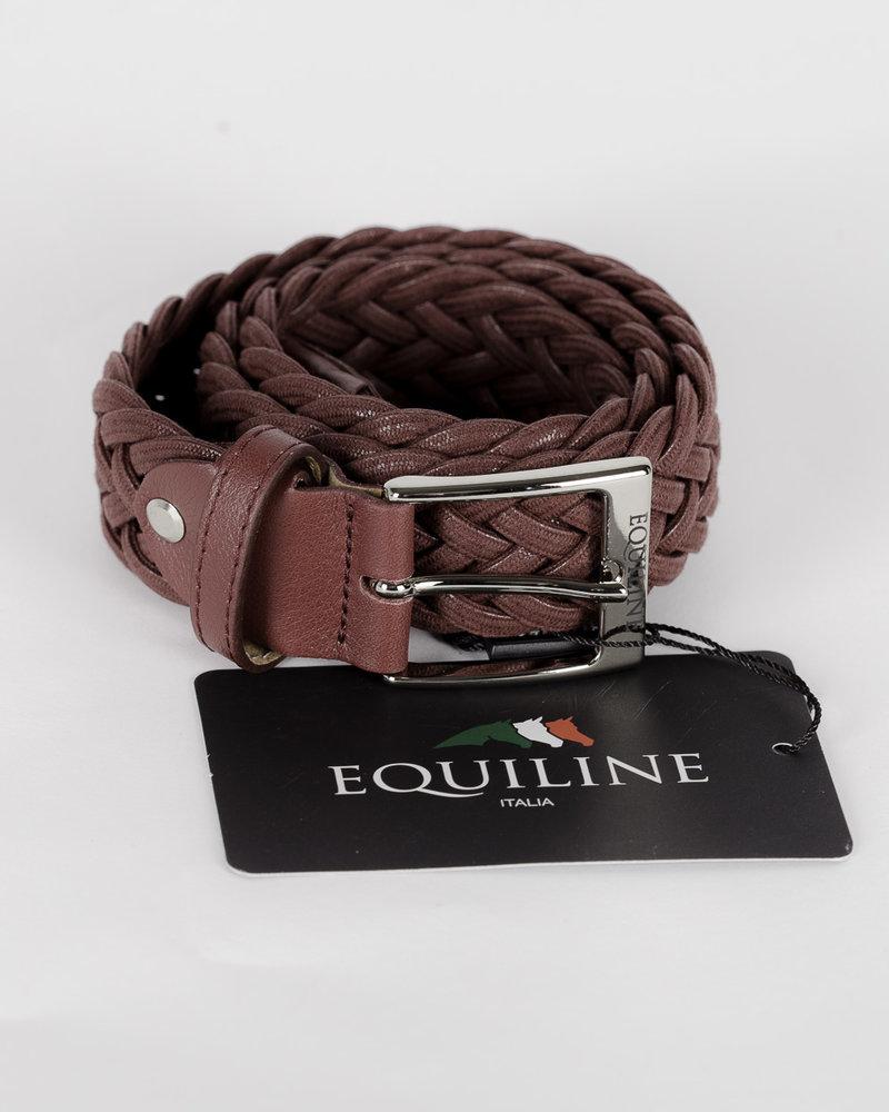 Equiline Equiline Unisex Elastic Belt Camellia Burgundy