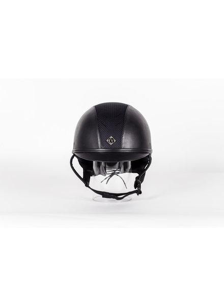 Charles Owen AYR8 Plus Leather Look Navy