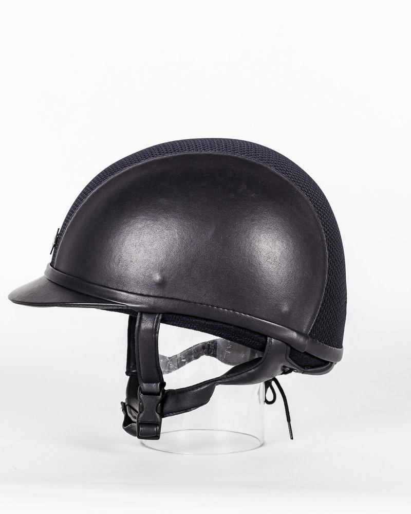 Charles Owen Charles Owen AYR8 Plus Leather Look Navy