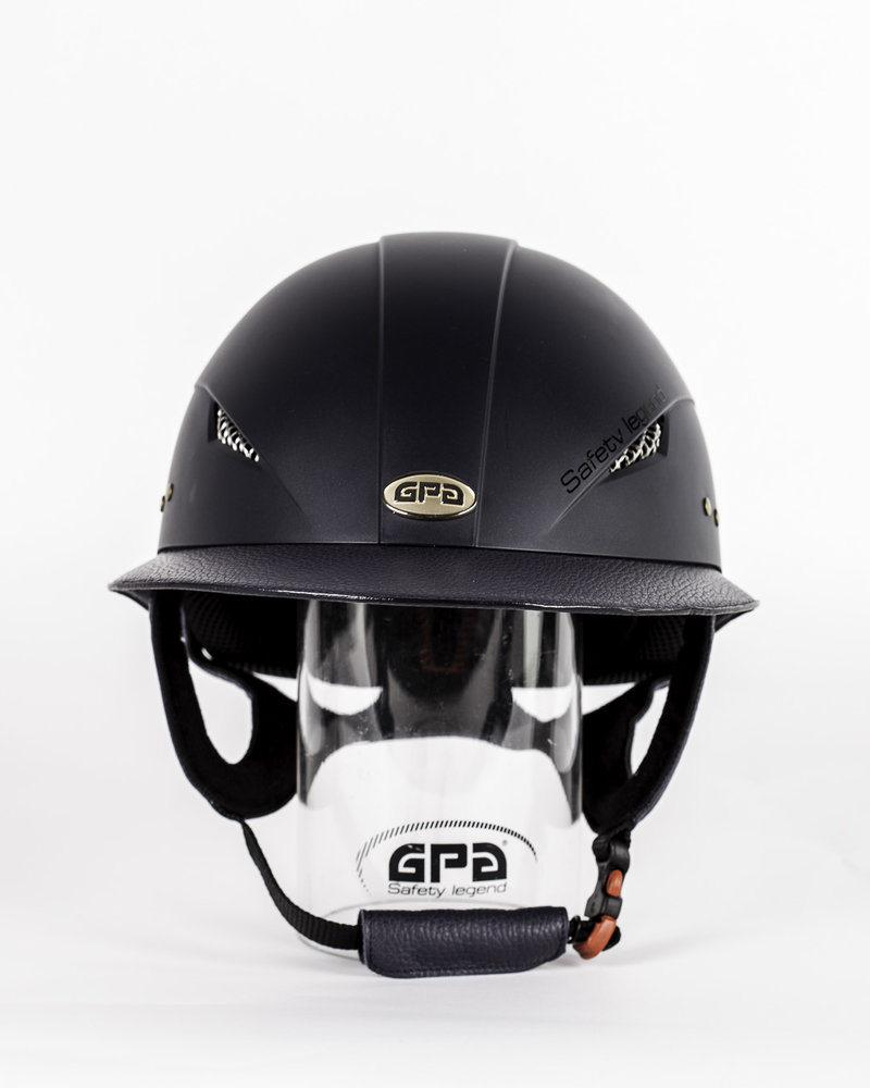 GPA GPA Little Lady Mat Leather Visor Navy