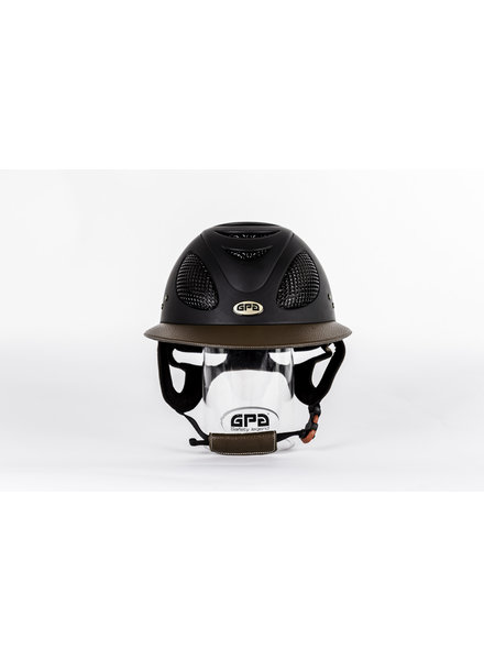 GPA First Lady 2X Leather Visor Black/Chestnut