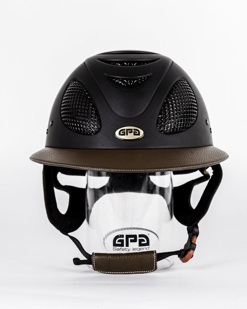 GPA GPA First Lady Leather Visor Black/Chestnut
