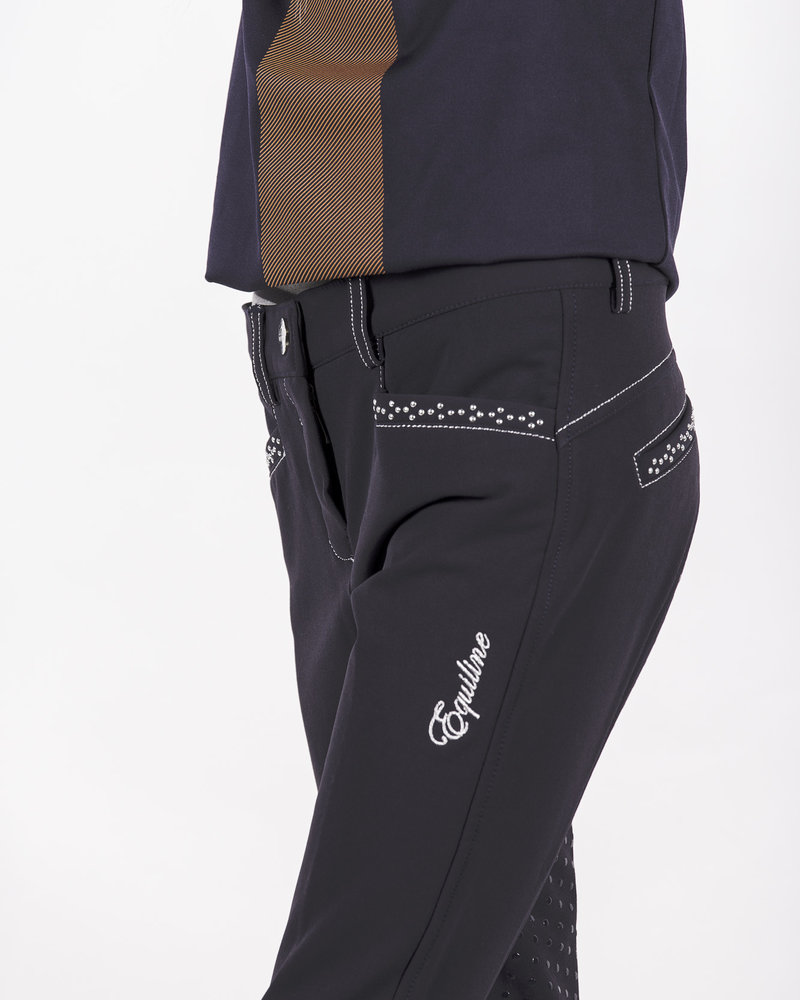 Equiline Equiline Girl's Riding Breeches Emma Navy