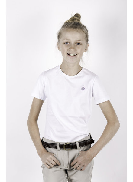 Cavalleria Toscana Peekaboo Girl Crew Neck T-Shirt White