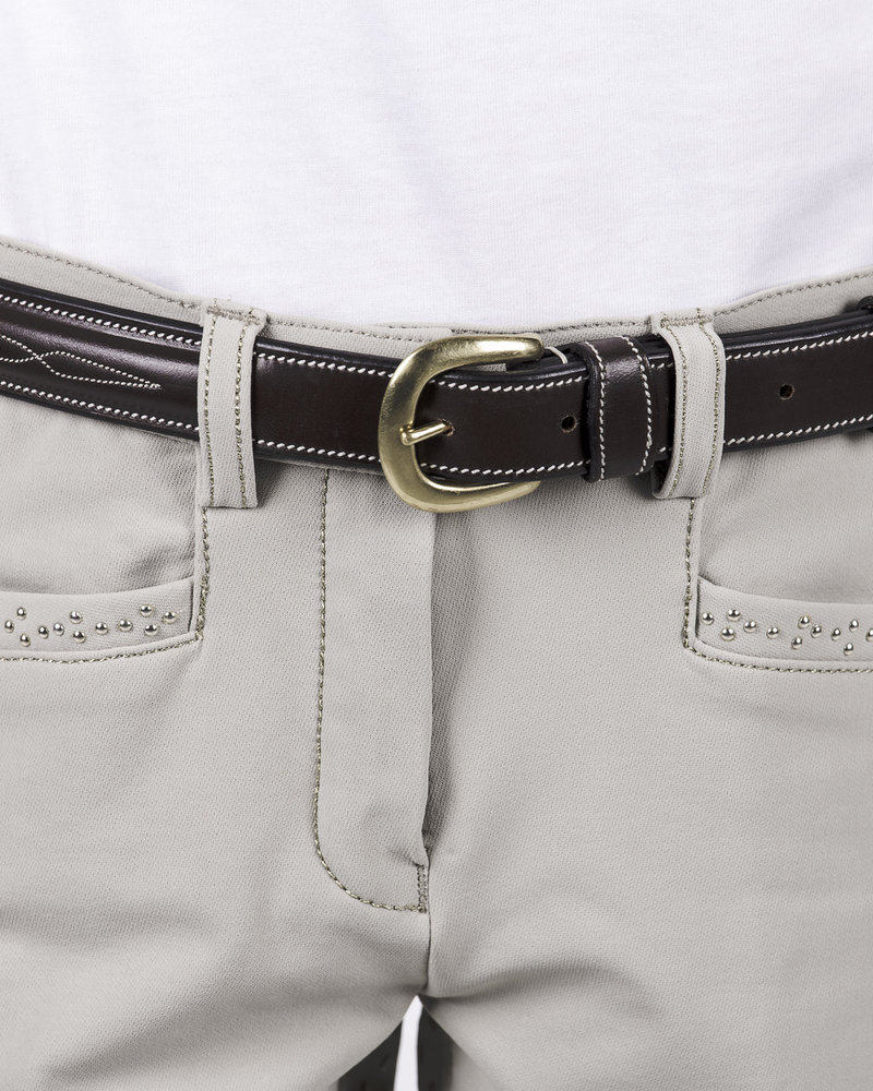 Equiline Equiline Girl's Breeches Full Grip Beige