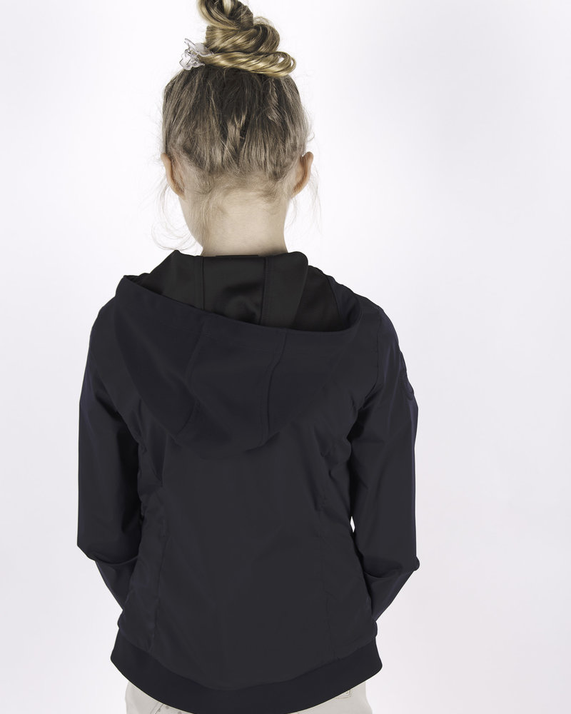 Cavalleria Toscana CT Jersey Nylon Hooded Jacket Navy
