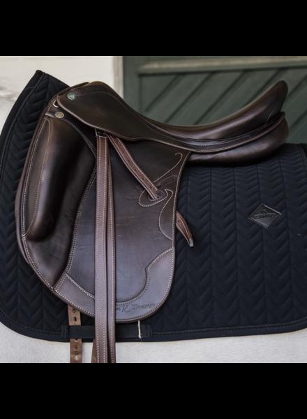 Kentucky Saddle Pad Fishbone Dressage Black
