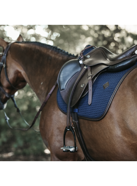 Kentucky Saddle Pad Color Edition Leather Full Navy