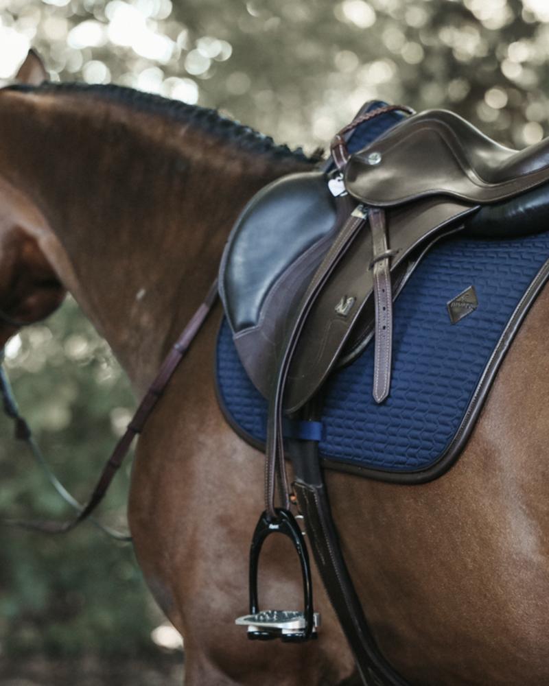 Kentucky Kentucky Saddle Pad Color Edition Leather Navy