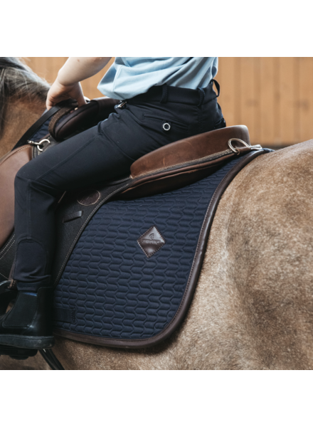 Kentucky Saddle Pad Color Edition Leather Navy Jumping