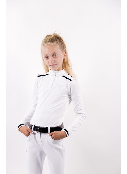 Pénélope Leprovost Kids Polo Bruges L/S White