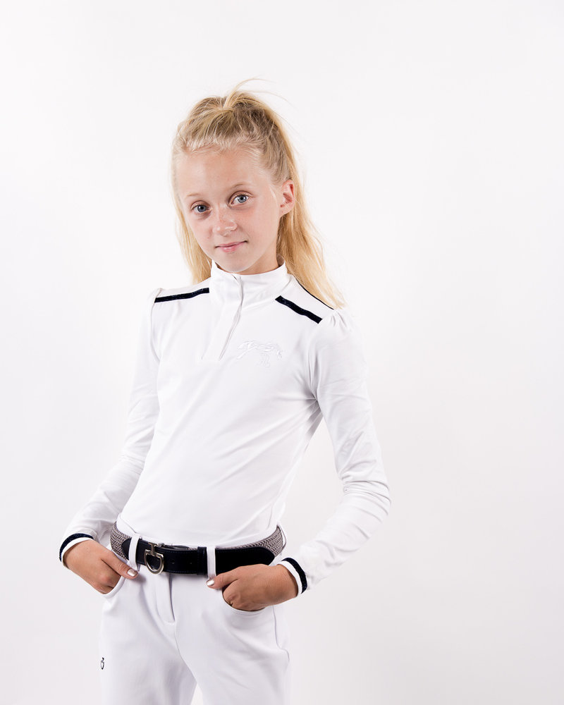 Pénélope Leprovost Penelope Kids Polo Bruges L/S White