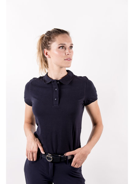 Eqode Women's Polo Shirt S/S Navy
