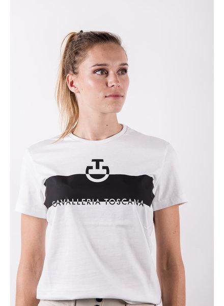 Cavalleria Toscana Adhesive Logo Cotton T-Shirt White