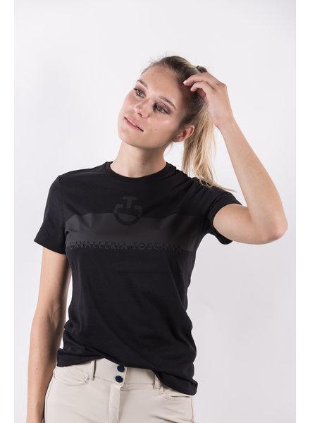 Cavalleria Toscana Adhesive Logo Cotton T-Shirt Black