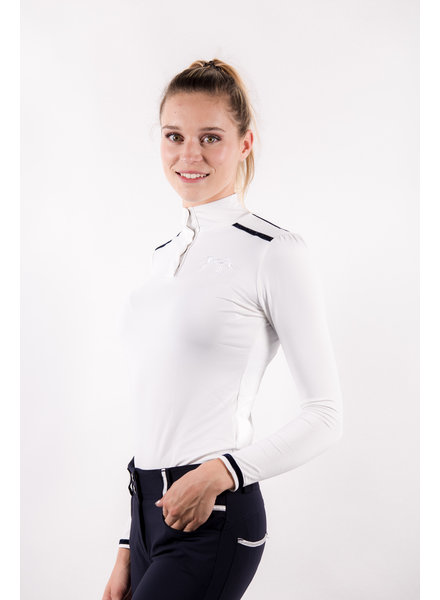 Pénélope Leprovost Ladies Polo Bruges L/S White