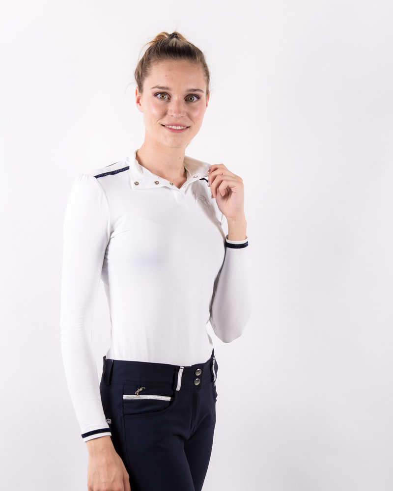 Pénélope Leprovost Penelope Ladies Polo Bruges L/S White