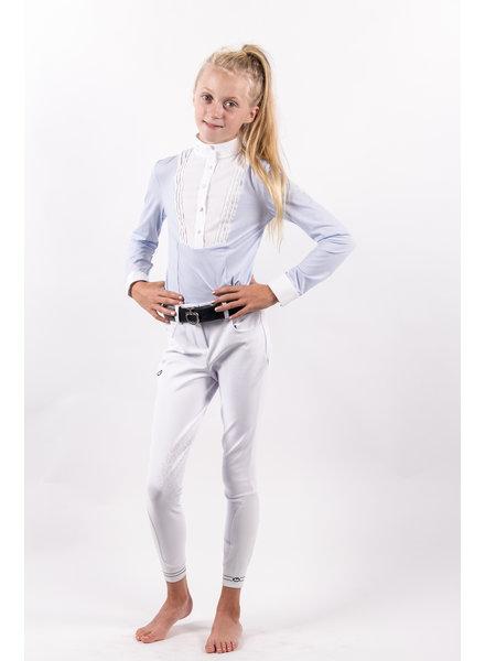 Cavalleria Toscana Girl's Young Rider Shirt Bib Light Blue