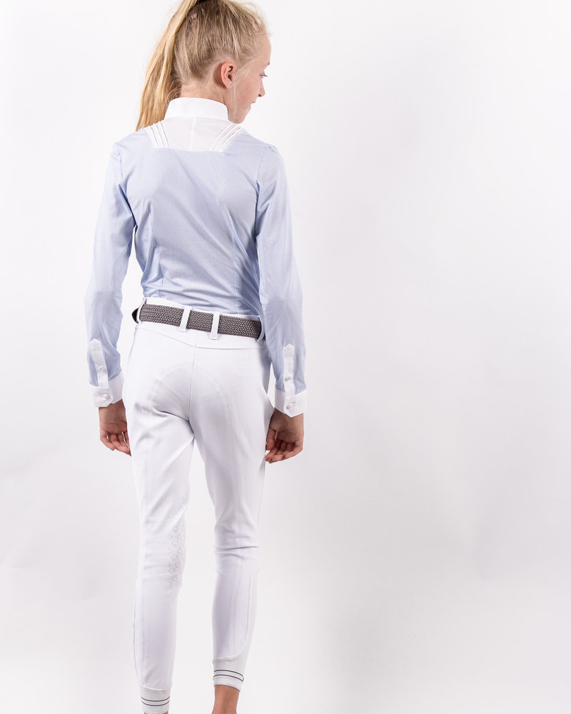 Cavalleria Toscana CT Girl's Young Rider Shirt Bib Light Blue