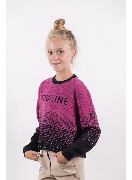 Equiline Girl's Sweater Bimba Navy/Pink