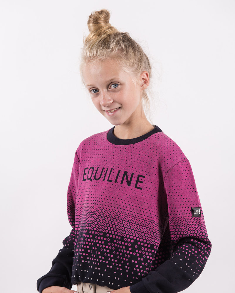 Equiline Equiline Girl's Sweater Bimba Navy/Pink
