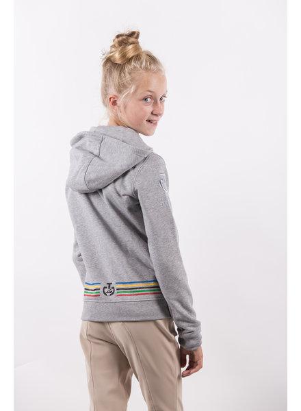 Cavalleria Toscana Tokyo Hooded Zip Cotton Sweatshirt 8000 Grey