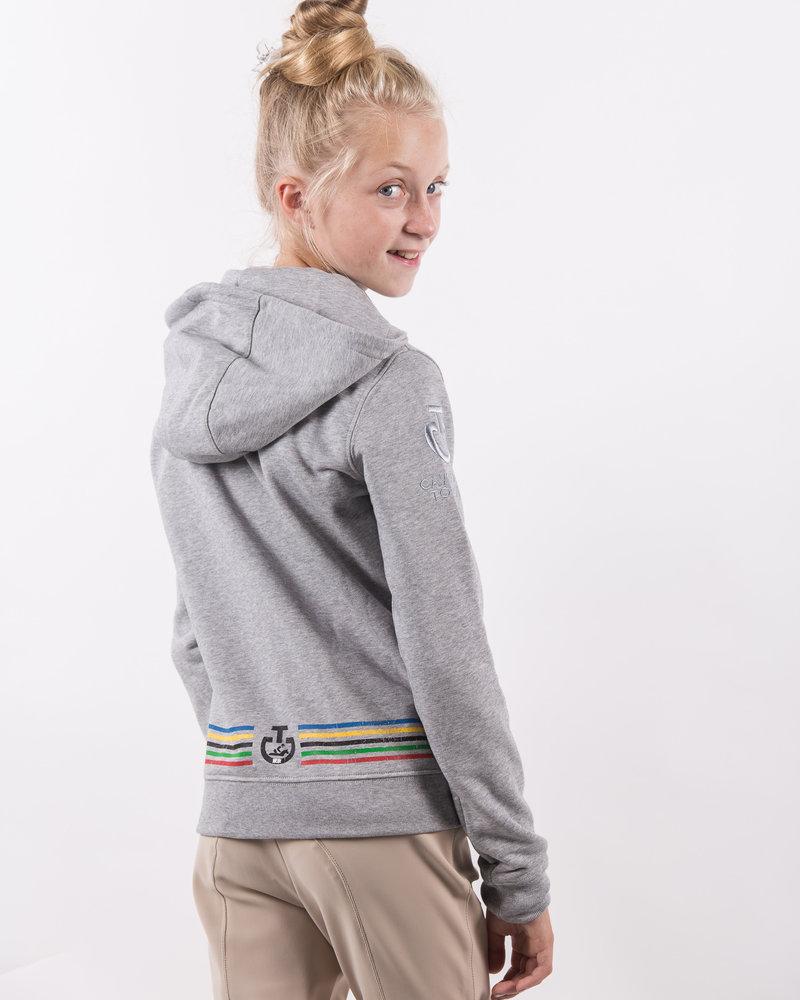 Cavalleria Toscana CT Tokyo Hooded Zip Cotton Sweatshirt 8000 Grey