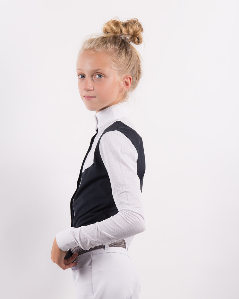 Cavalleria Toscana CT Girl's Comp. Shirt Perforated Bib 7901 Navy