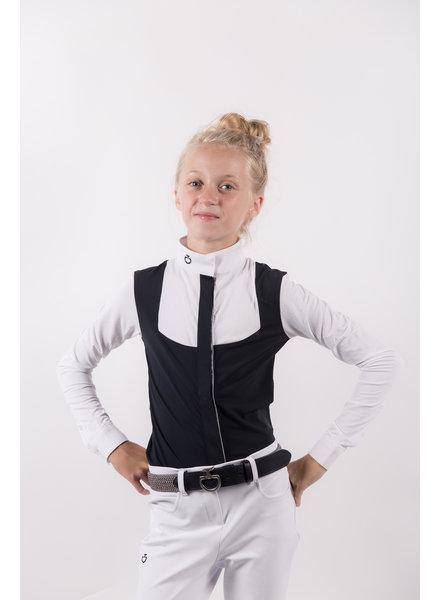 Cavalleria Toscana Girl's Comp. Shirt Perforated Bib 7901 Navy