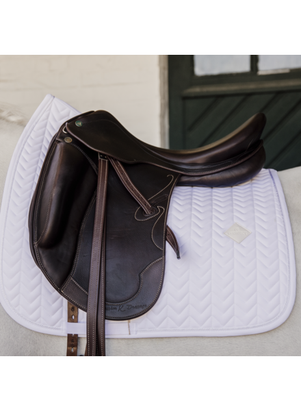 Kentucky Saddle Pad Fishbone Dressage White