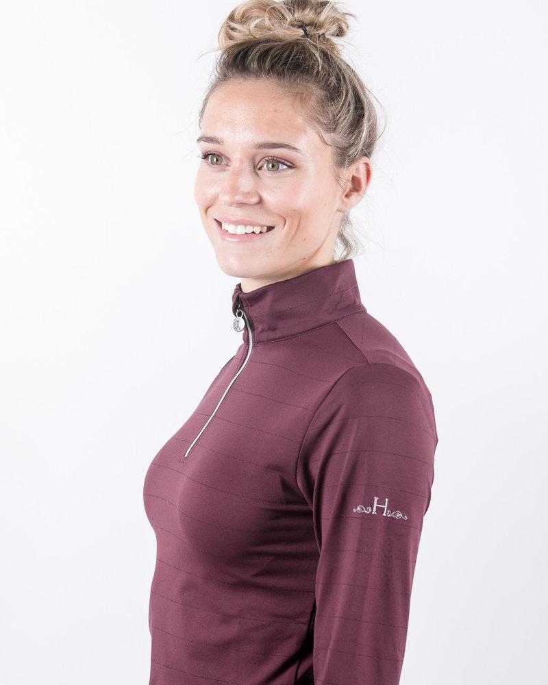 Harcour Harcour Rosi Women Technical Polo Plum