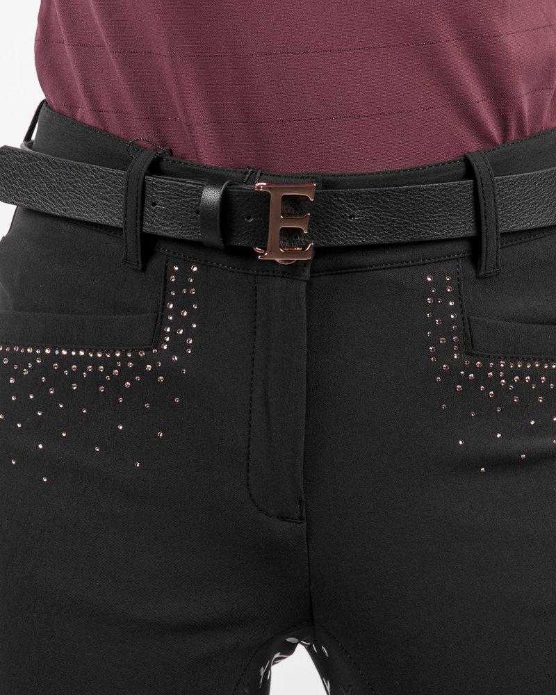 Equiline Equiline Leather Belt Black / Rose 80