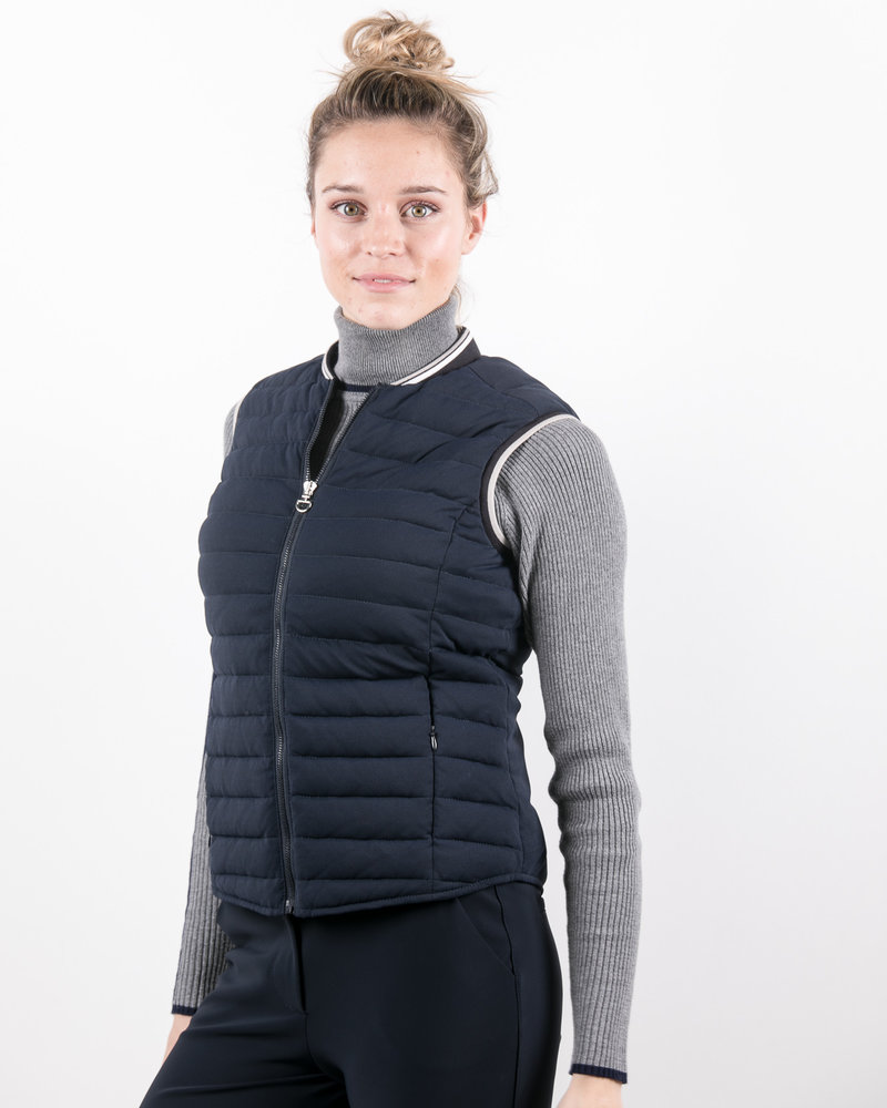 Cavalleria Toscana CT Quilted Front/Flat Back Puffer Vest Navy