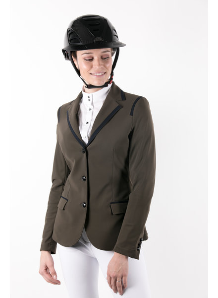 Cavalleria Toscana Riding Jacket Micro Print Lining Army Green 5A00