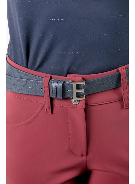 "Equiline Leather Belt ""EQ"" Navy 80"