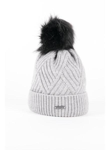 Alessandro Albanese Wool Pom-Pom Hat Grey