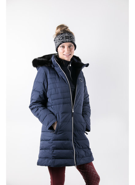 Harcour Valentina Long Padded Jacket Navy