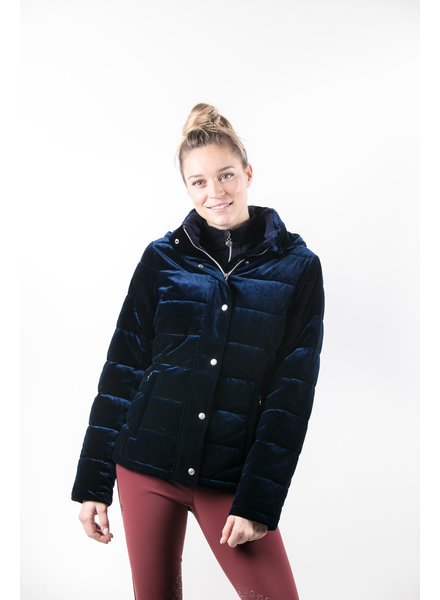 Harcour Amy Woman Velvet Padded Jacket Navy