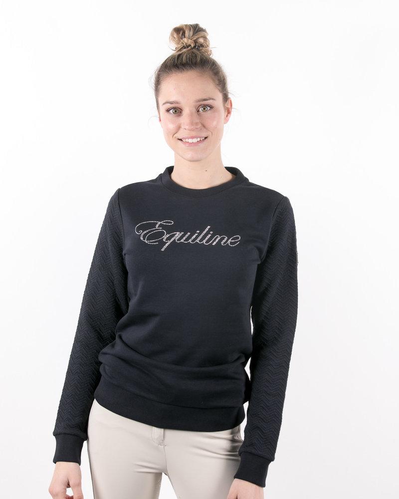 Equiline Equiline Women's Sweatshirt Glitter Navy
