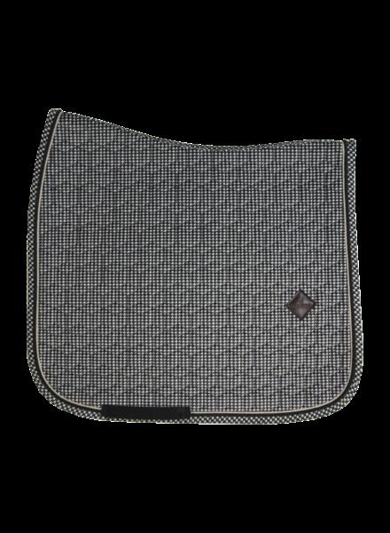 Kentucky Saddle Pad Pied-De-Poule Black Dressage