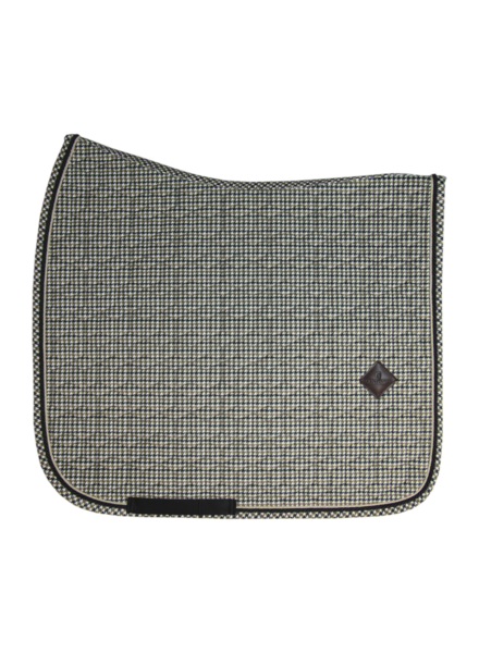 Kentucky Saddle Pad Pied-De-Poule Brown Dressage