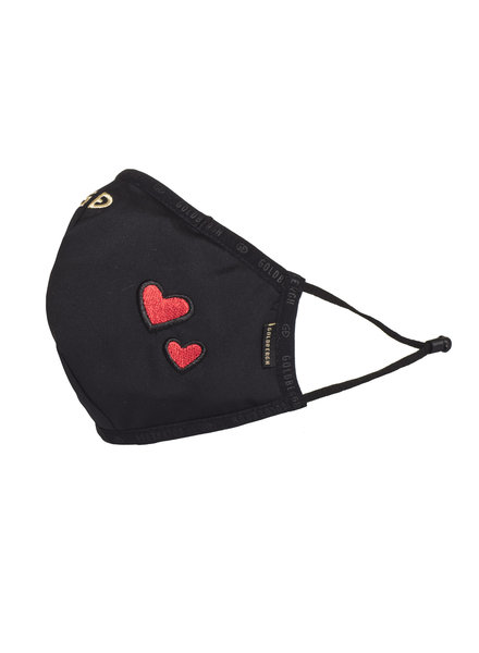 Goldbergh Loes Mask Black Red Heart