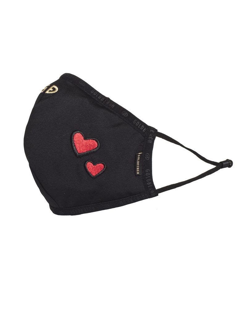 Goldbergh Goldbergh Loes Mask Black Red Heart