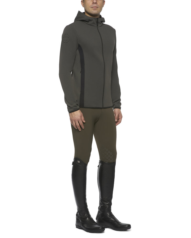Cavalleria Toscana CT Piquet Hooded Softshell Jersey Insert Army Green 8400
