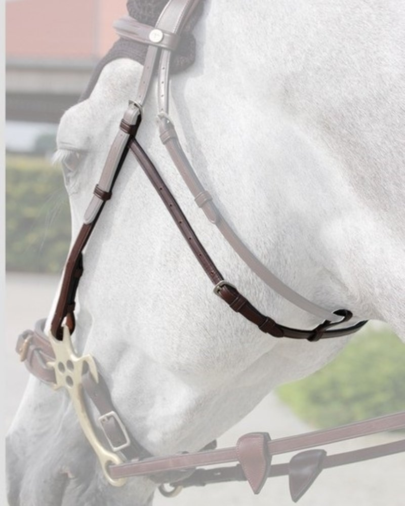 Dy'on Dy'on N.E. Hackamore Cheek Pieces Brown