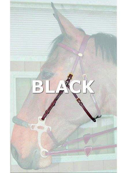 Dy'on D.C Hackamore Cheek piece Black
