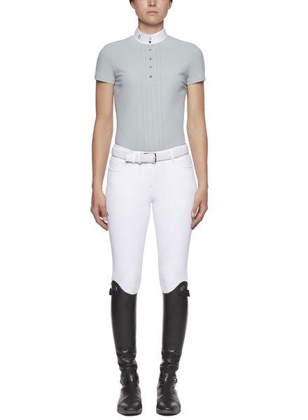 Cavalleria Toscana Pleated S/S Jersey Comp. Polo Shirt 5B00