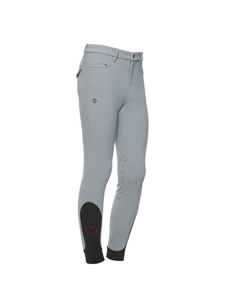 Cavalleria Toscana Boy's Horse & Helmet Riding Breeches Gray