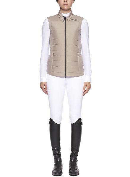Cavalleria Toscana P&P Quilted Puffer Vest Beige